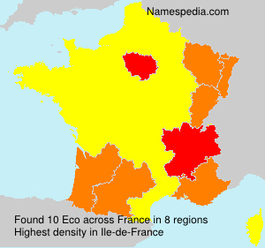 Surname Eco in France