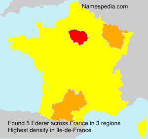 Surname Ederer in France