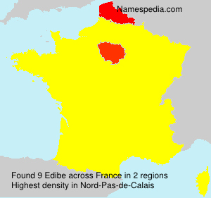 Surname Edibe in France