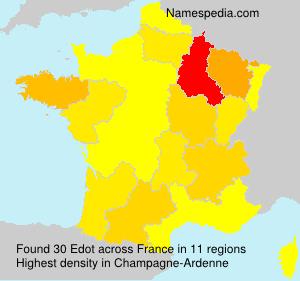 Surname Edot in France