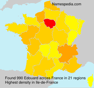 Surname Edouard in France