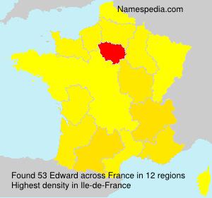 Surname Edward in France