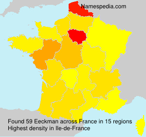 Surname Eeckman in France