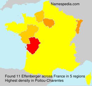 Familiennamen Effenberger - France