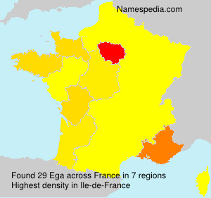 Surname Ega in France
