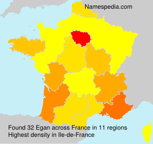Surname Egan in France