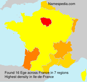 Surname Ege in France