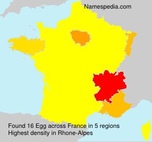 Surname Egg in France