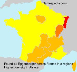 Surname Eggenberger in France