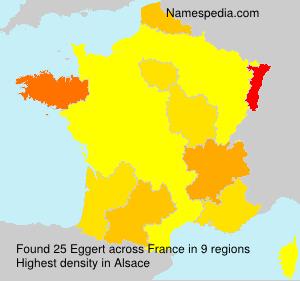 Familiennamen Eggert - France