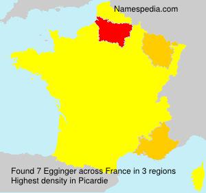 Surname Egginger in France
