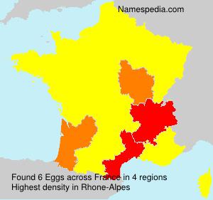 Surname Eggs in France