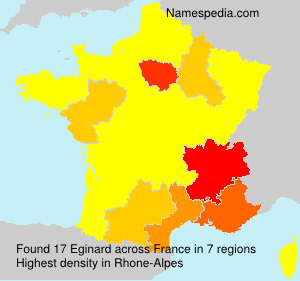Surname Eginard in France