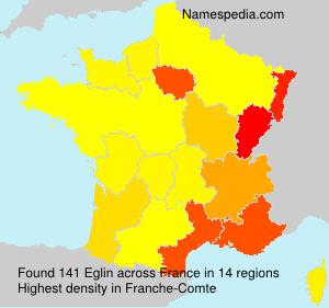 Surname Eglin in France