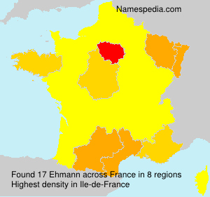 Surname Ehmann in France
