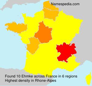 Surname Ehmke in France
