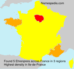 Surname Ehrenpreis in France