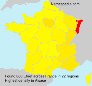 Surname Ehret in France