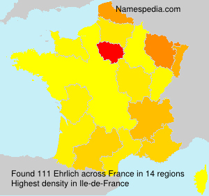 Surname Ehrlich in France
