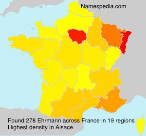Surname Ehrmann in France