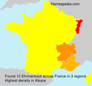 Surname Ehrmantraut in France