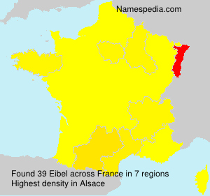 Surname Eibel in France