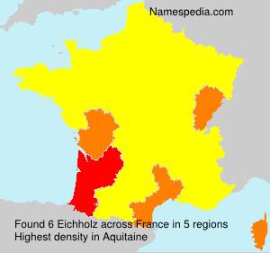 Familiennamen Eichholz - France