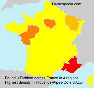 Surname Eickhoff in France
