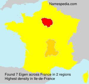 Familiennamen Eigen - France