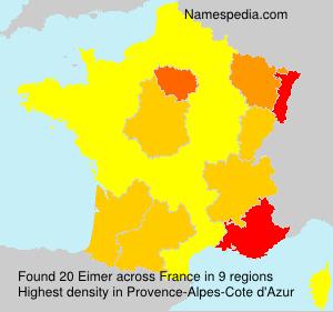 Surname Eimer in France