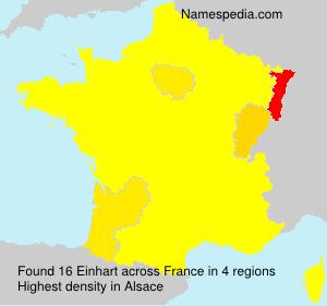 Surname Einhart in France