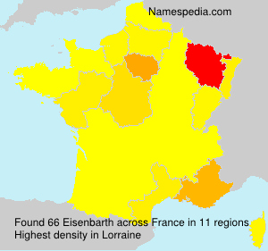 Surname Eisenbarth in France