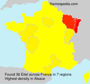 Surname Eitel in France
