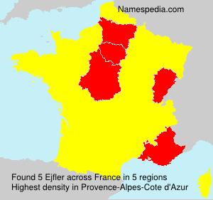 Familiennamen Ejfler - France