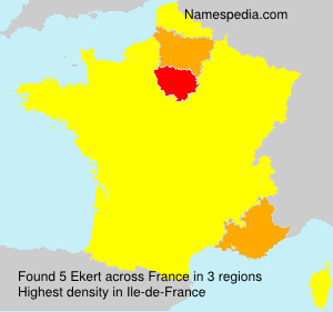 Surname Ekert in France