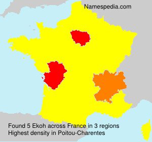 Surname Ekoh in France