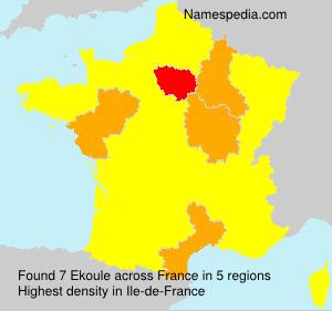 Surname Ekoule in France
