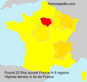Surname Eksi in France