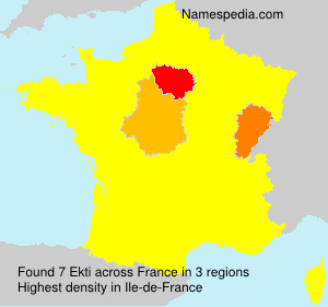 Surname Ekti in France