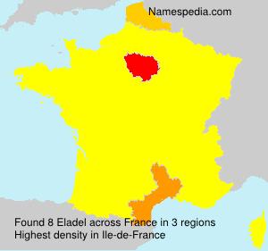 Surname Eladel in France