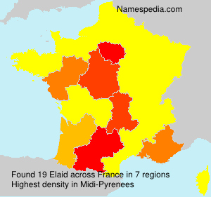 Surname Elaid in France