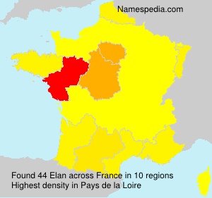 Surname Elan in France