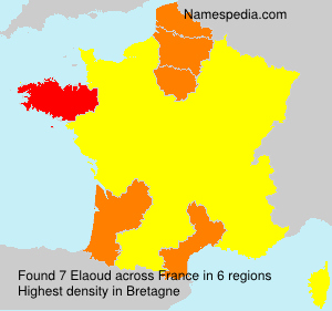 Surname Elaoud in France