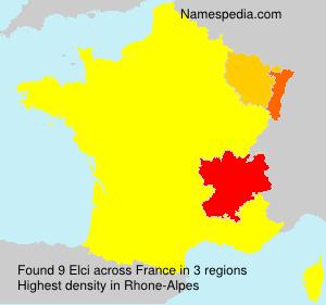 Familiennamen Elci - France