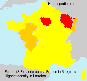 Familiennamen Eleuterio - France
