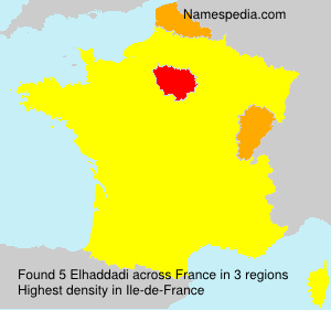 Surname Elhaddadi in France