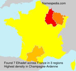 Surname Elhadef in France