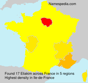 Surname Eliakim in France