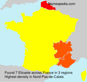 Surname Elicaste in France