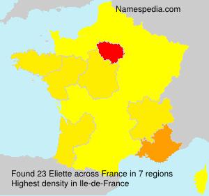 Familiennamen Eliette - France
